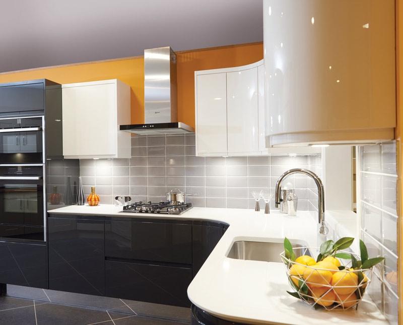 John Nicholls orange kitchen