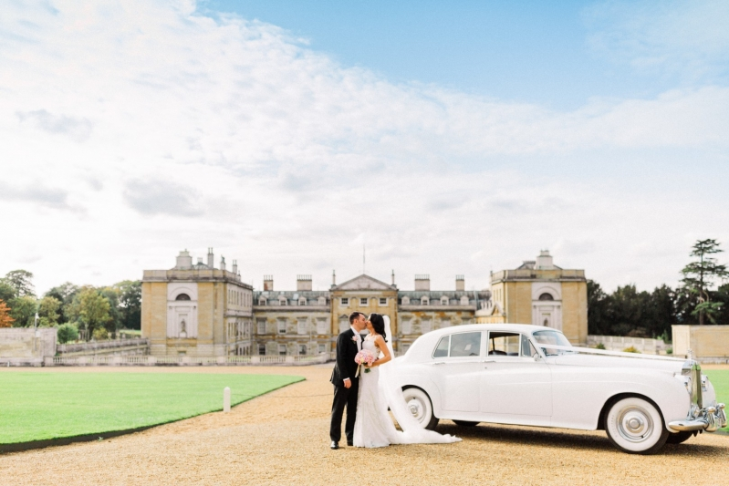 Woburn Abbey Weddings Mr  and  Mrs Loggia car
