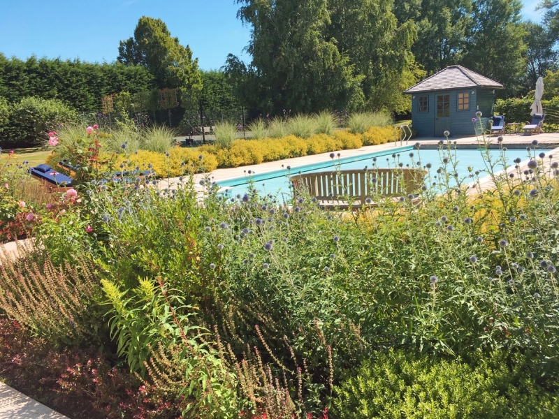 The Oxfordshire Gardener Pool House Landscaping