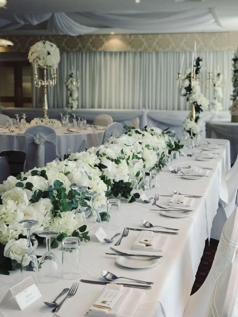 Bicester Hotel Wedding table layout