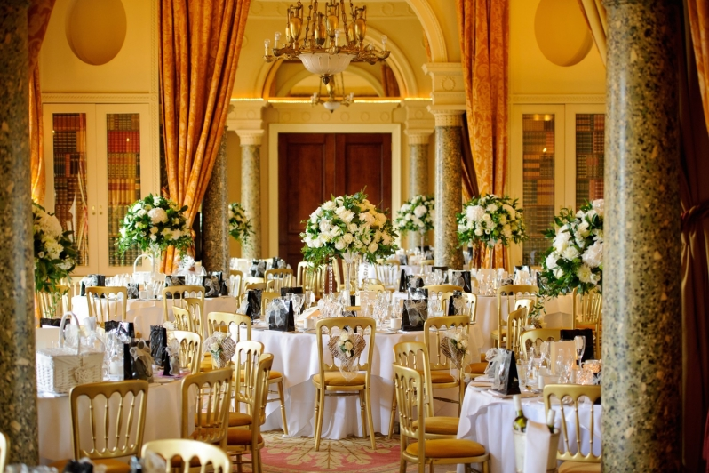 Stoke Park wedding party tables