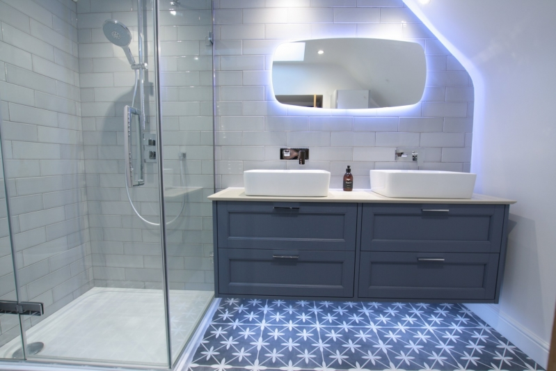 The Cotswold Bathroom Company Modern Bathroom with Lighted Mirror