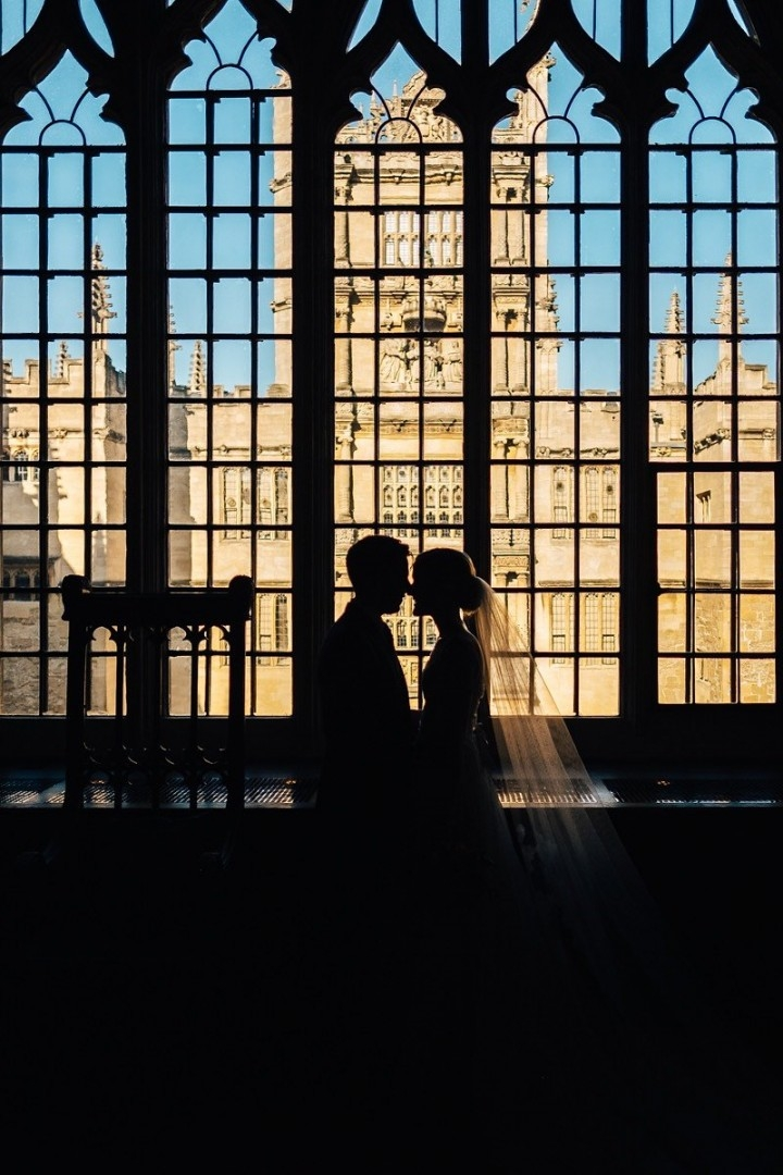 The Bodleian Libraries Wedding couple infront of window