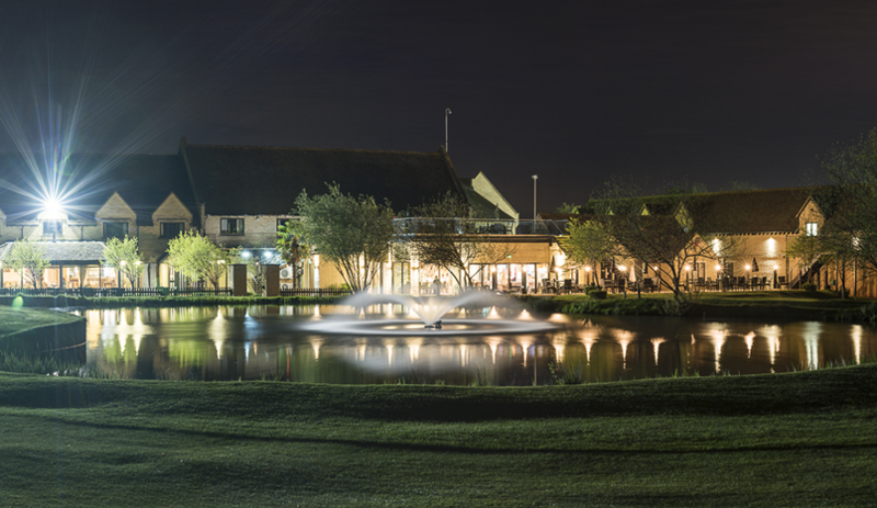 Bicester Hotel at night