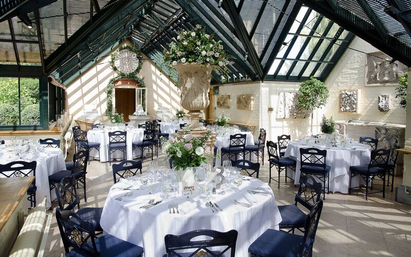 The Dairy at Waddesdon Manor Wedding Tables Indoor
