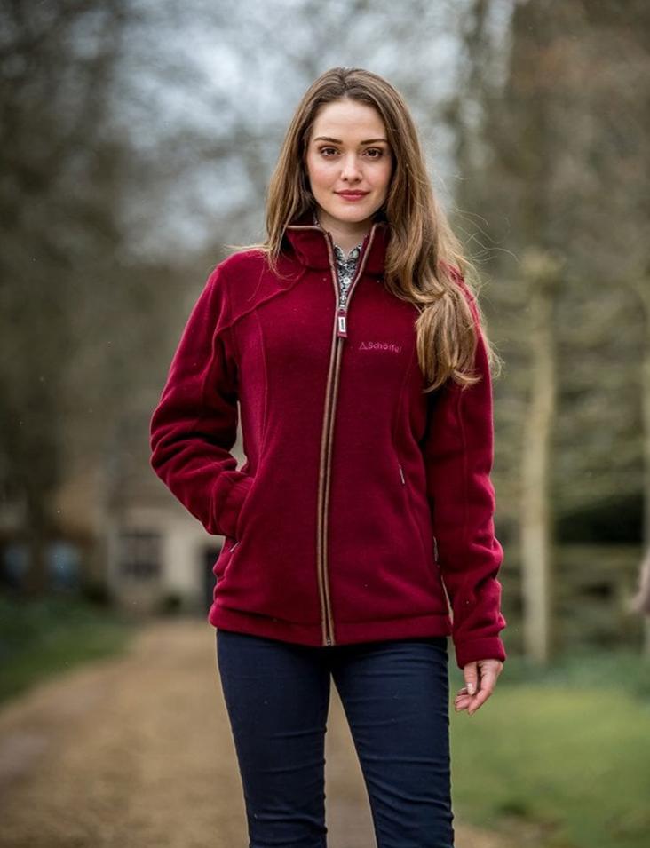 Elm Of Burford Ladieswear SCHOFFEL Burley Fleece Ruby