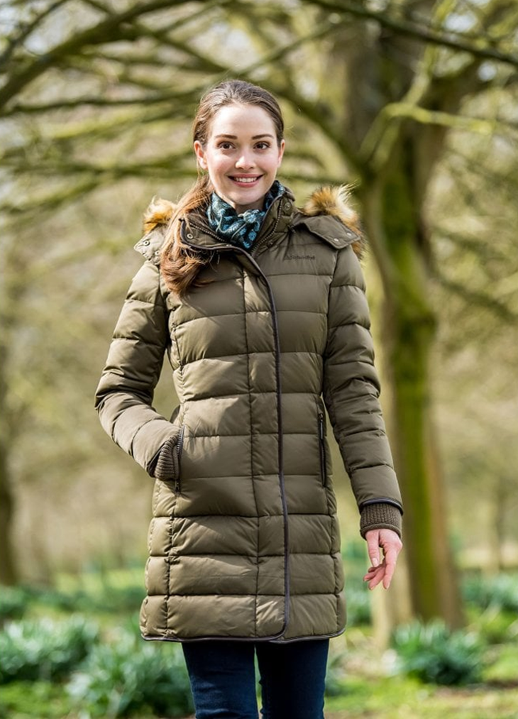 Elm Of Burford Ladieswear SCHOFFEL Mayfair Down Coat Olive
