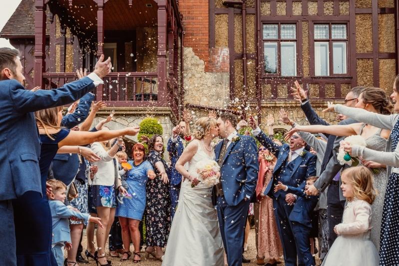 Five Arrows Hotel Weddings Married Couple Confetti