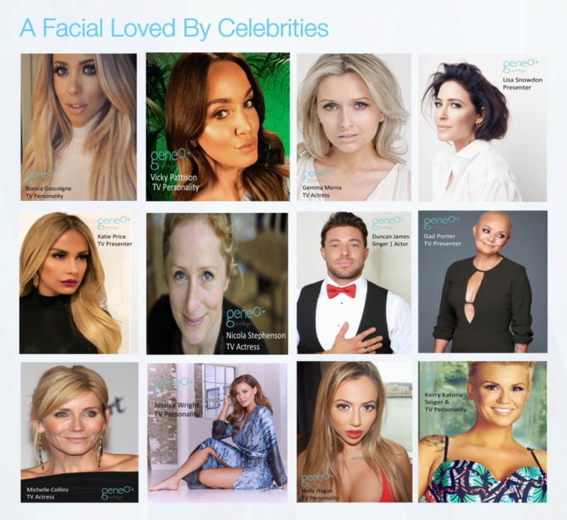 Quartz Aesthetics Geneo super  facial loved by celebrities