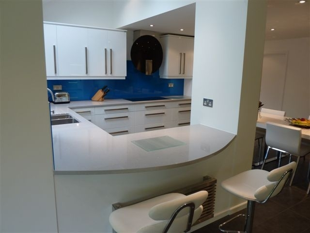 Woodwise Kitchens Modern white and blue