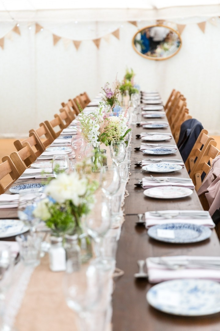 The Perch Free House Weddings Table setting