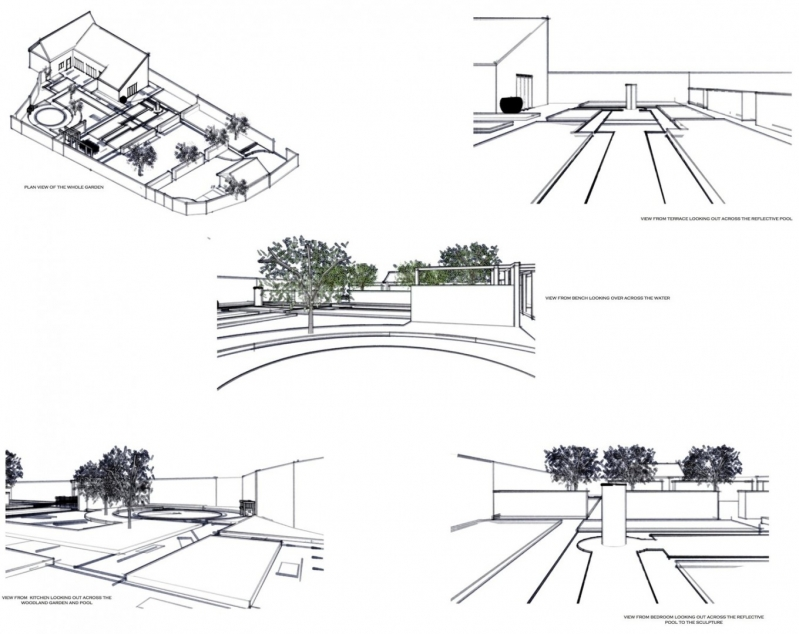 Susan Dunstall Contemporary Water Feature and Lily Pond Plan