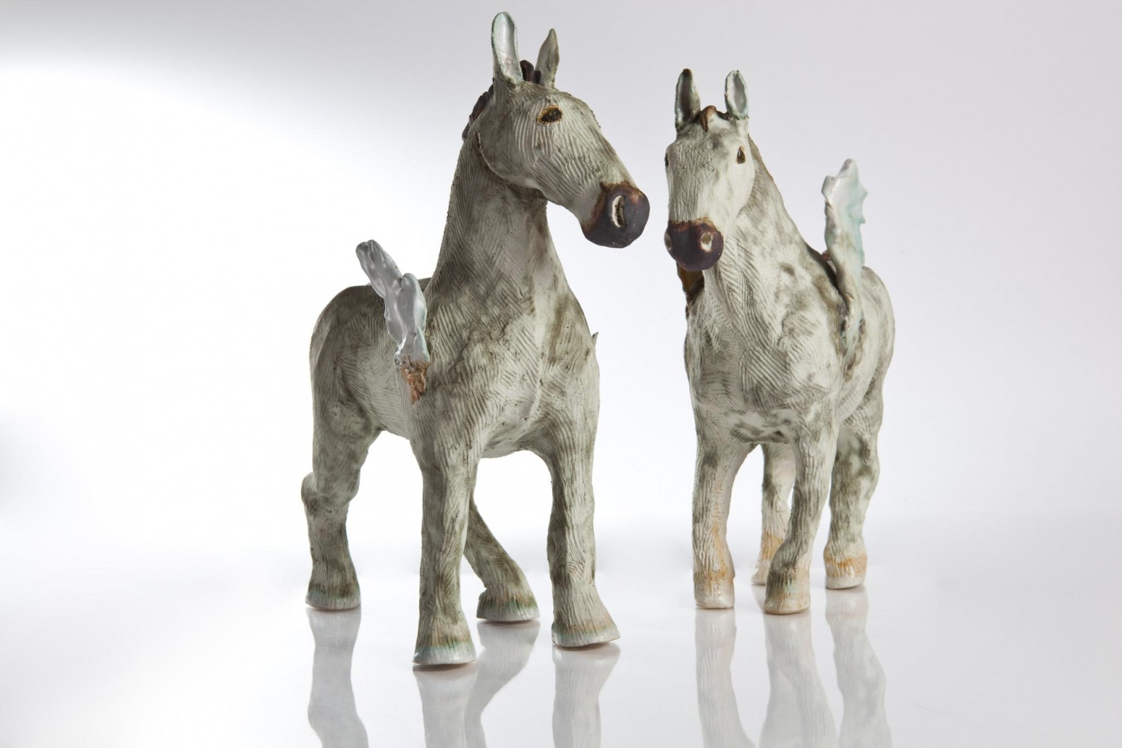 Shaping the Earth Ceramic Horses Aline Stanway