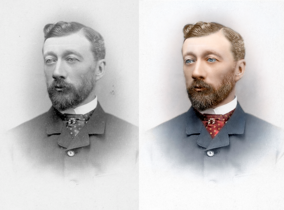 Life in Colour Colourised Man Photograph