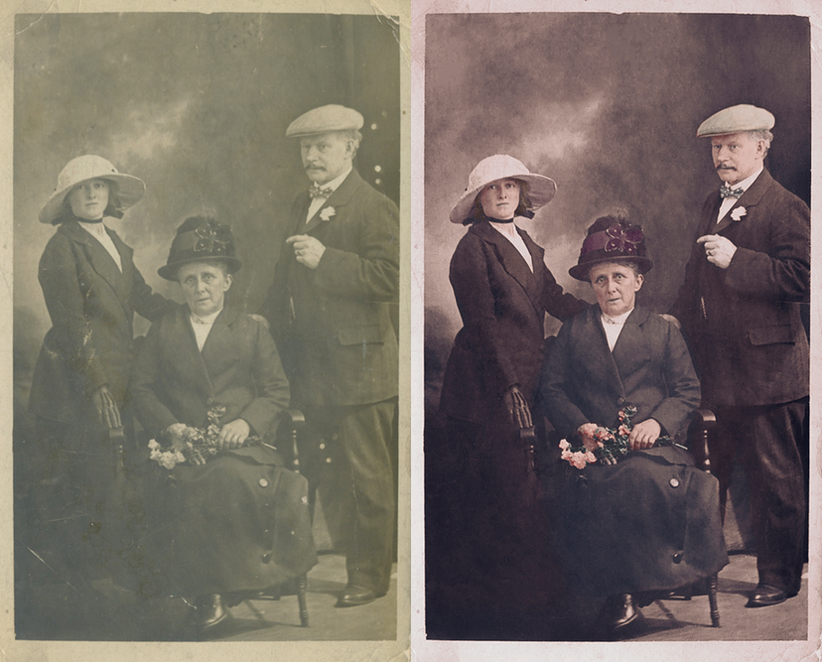 Life in Colour Old Family Portrait