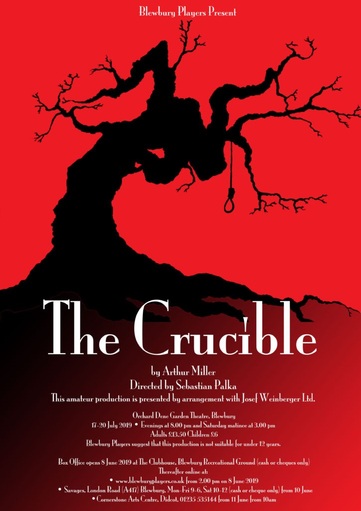 The Crucible Returns to Blewbury Production Flyer