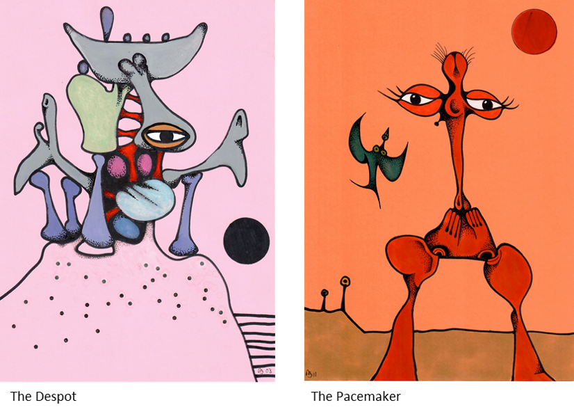 Desmond Morris Artwork The Despot and The Pacemaker