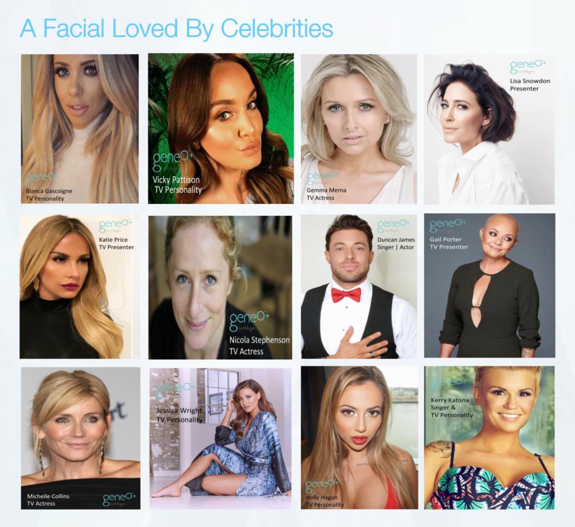 Geneo Facial celebrity clients