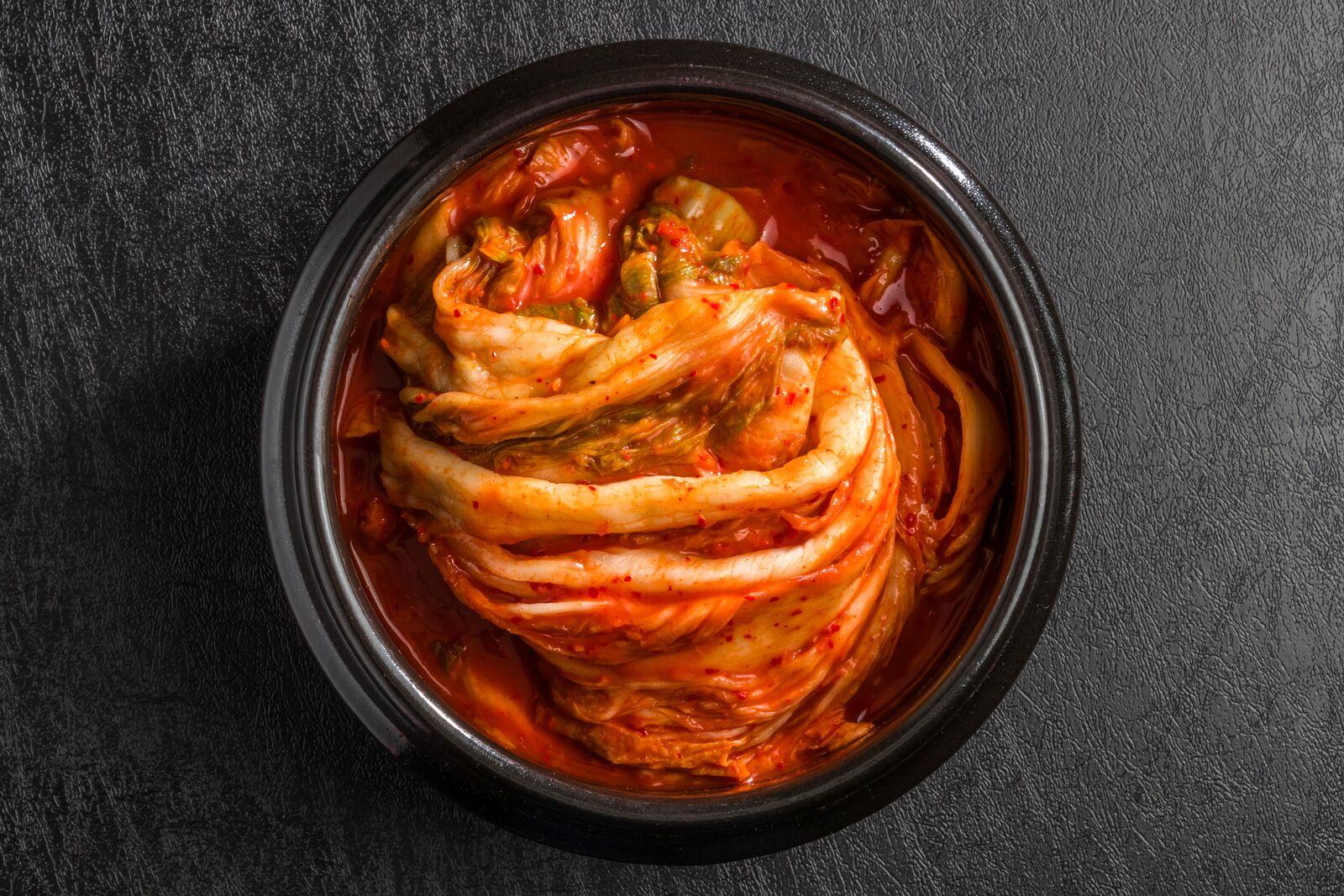Fermentation kimchi in bowl