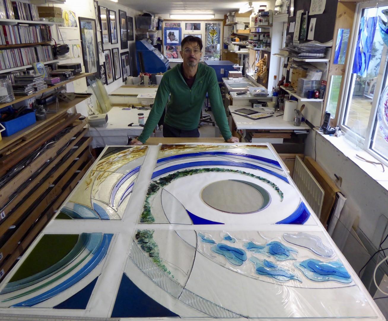Vital Peeters Glass Art Work Smile